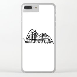 racer express - line rollercoaster Clear iPhone Case