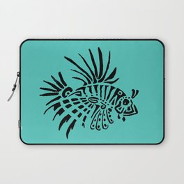 Poisson lion - turquoise Laptop Sleeve