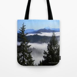 Bird's eye view of Mount Lassen.... Tote Bag