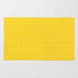 Yellow Grid White Line Rug