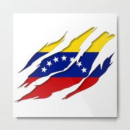 Venezuela Scratch Design Metal Print