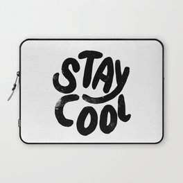 Stay Cool Vintage B&W Laptop Sleeve