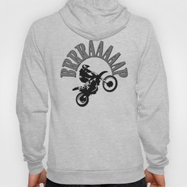 Brrraaaaap Checkered Flag Moto Language Hoody