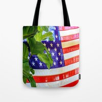 flag Tote Bags featuring Flag by Jodi Kassowitz Photography