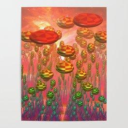 Fantasy alien garden Poster