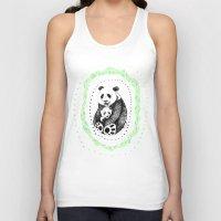 pandas Tank Tops featuring PANDAS! by Sagara Hirsch