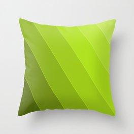 Green Gradient to Light Throw Pillow