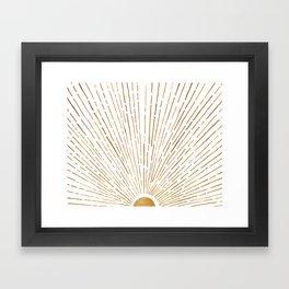 Let The Sunshine In Framed Art Print