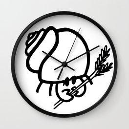 Hermit Crab - Crabotanicals Logo Wall Clock