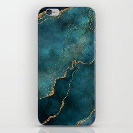 Golden Gemstone Glamour Mineral iPhone Skin
