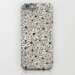 Light orange floral pattern iPhone Case