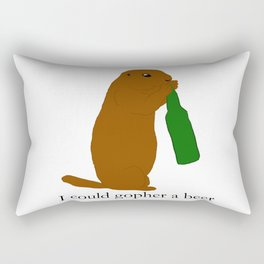 I could gopher a beer Rectangular Pillow