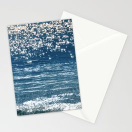 Blue Sea Sparkle Stationery Cards