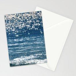 Blue Sea Sparkle Stationery Cards