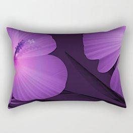 Ultraviolet Hibiscus Tropical Nature Print Rectangular Pillow