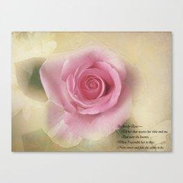 Go Lovely Rose Canvas Print
