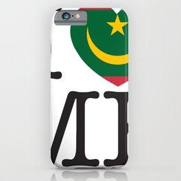 I Love Mauritania iPhone Case