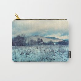 Snowy mountain landscape Carry-All Pouch