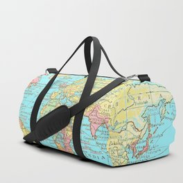 Map of the World Duffle Bag