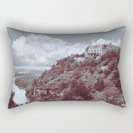 Ha Ha Tonka in Selenium and Gray Rectangular Pillow