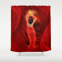 woman Shower Curtains featuring Woman  by Giada Rossi