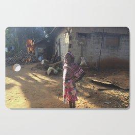 Zanzibar Bag Girl Cutting Board