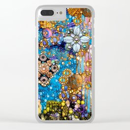 Gold, Glitter, Gems and Sparkles Clear iPhone Case