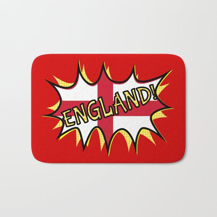Flag of England POW star Bath Mat