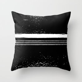 abstract black and white Throw Pillow