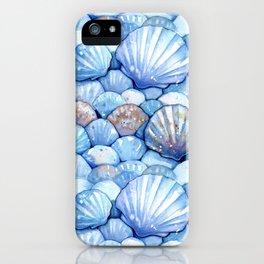 Sea Shells Aqua iPhone Case