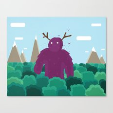 Life Swarms with Innocent Monsters Canvas Print