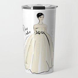 Fashion girl in ball gown Travel Mug