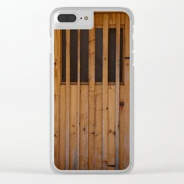 Wood Slats Beach Door Costa Brava Spain Clear iPhone Case