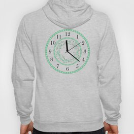 green floral clock Hoody