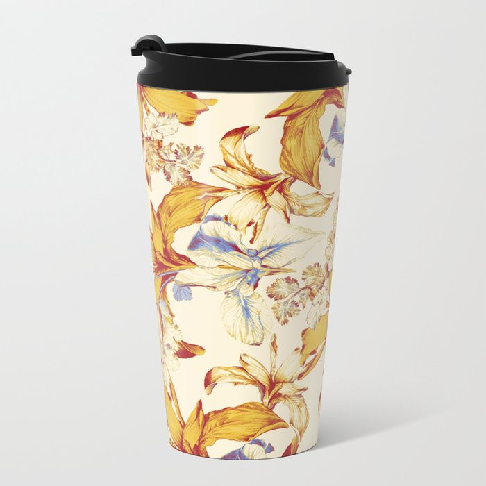 Irisses & Coriander Metal Travel Mug