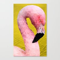 flamingo Canvas Prints featuring Flamingo by Esco