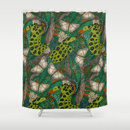 entangled forest rust Shower Curtain