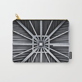 abstract, travel, architecture, vacation, alien lands, island, wood, monochrome Carry-All Pouch