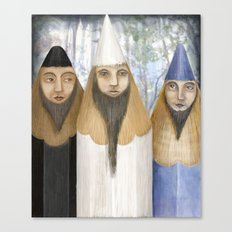 Three Pencilheads Gather Together Canvas Print