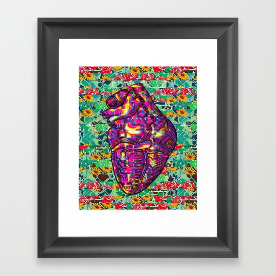 Give Strong (1) Framed Art Print