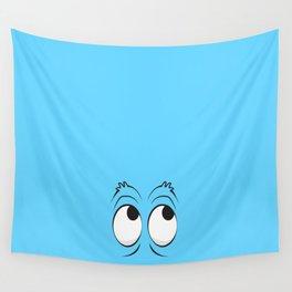 Monster Eyes Blue Wall Tapestry