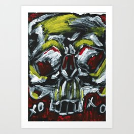 From a skull with love XOXO Art Print