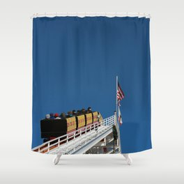 Santa Monica Pier, coaster Shower Curtain