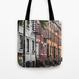 Picturesque street view in Greenwich Village, New York Tote Bag