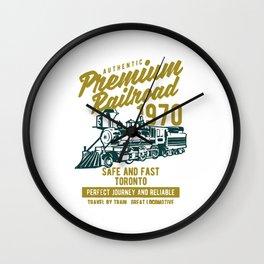 premium railroad Wall Clock