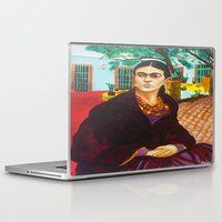 frida kahlo Laptop & iPad Skins featuring Frida Kahlo by Michael Diggs