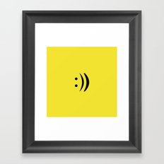 repeat the happiness Framed Art Print
