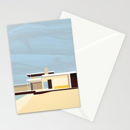 Mid Century Modern Kaufman House: Palm Springs: Architecture by Richard Neutra: Blue Yellow Brown Stationery Cards