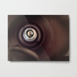 Peep Hole Metal Print