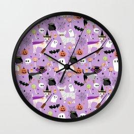 Chihuahua halloween cute spooky seasonal dog pattern chihuahuas Wall Clock